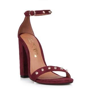 Toi et Moi Gelato-01 Slim Ankle Strap Women's Chunky Heel