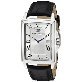 Raymond Weil Men's 5596-STC-00650 'Tradition' Black Leather Watch