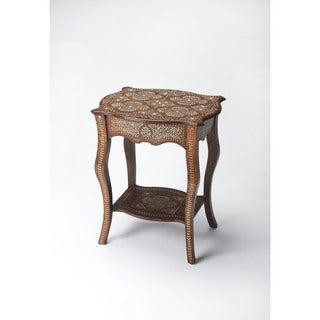 Butler Wood and Bone Inlay Side Table