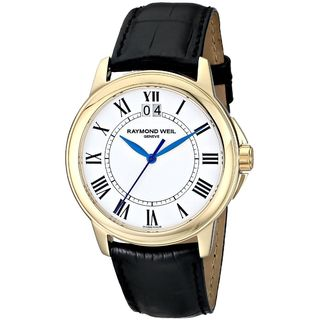Raymond Weil Men's 5476-P-00300 'Tradition' Black Leather Watch