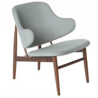 Cherish Wood Inspired Lounge Chair, Light Grey