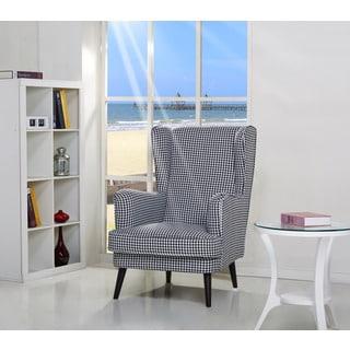 Bristol Geometric Print Wing Back Chair