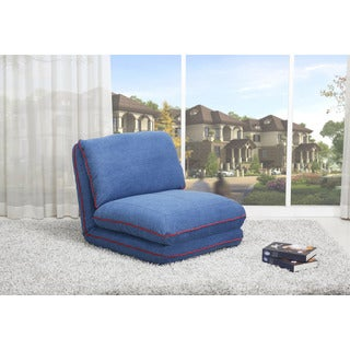 Irvine Royal Blue Convertible Chair Bed