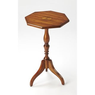 Butler Archambault Antique Cherry Wood Octagonal Pedestal Table