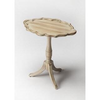 Butler Higgins Grey Wood and MDF Driftwood Oval Pedestal Table