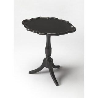 Butler Higgins Black Wood and MDF Oval Pedestal Table