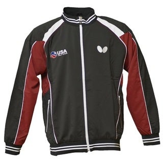 Butterfly Men's USA Table Tennis Team White, Red, Grey Polyester Jacket