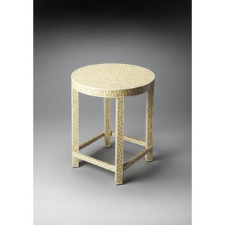 Handmade Butler 3499328 Yellow Bone Inlay Resin and Wood End Table (India)