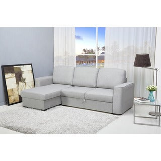 Huntington Mist Convertible Sectional Sofa Bed