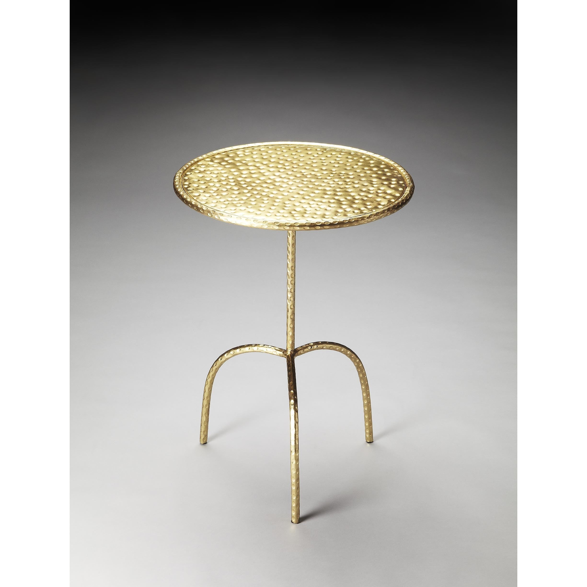 Butler Founders Brass-finish Pedestal Table (Gold), Yellow