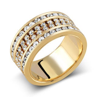 Goldplated Preciosa Crystal Stacking Ring