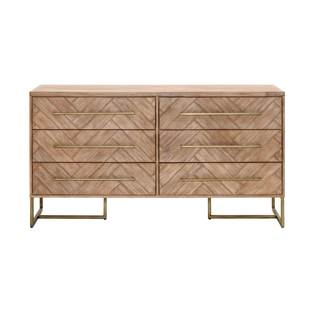Laurel Natural Wood/Acacia/MDF Double Dresser