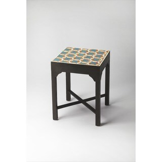 Butler Bishop Teal and Orange Bone Inlay Bunching Table