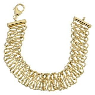 Fremada Italian 14k Yellow Gold High Polish Infinity Link Bracelet (7.5 inches)