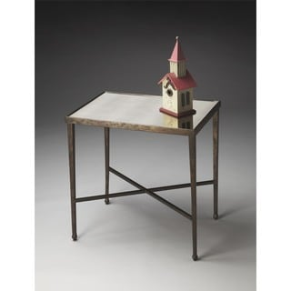 Butler Metalworks 2939025 Brown Glass and Metal 25-inch x 17-inch x 26-inch Accent Table