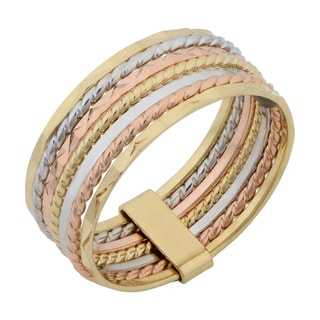 Link to Fremada 14k Tricolor Gold 6.7-mm Seven Days Stack Ring Similar Items in Rings