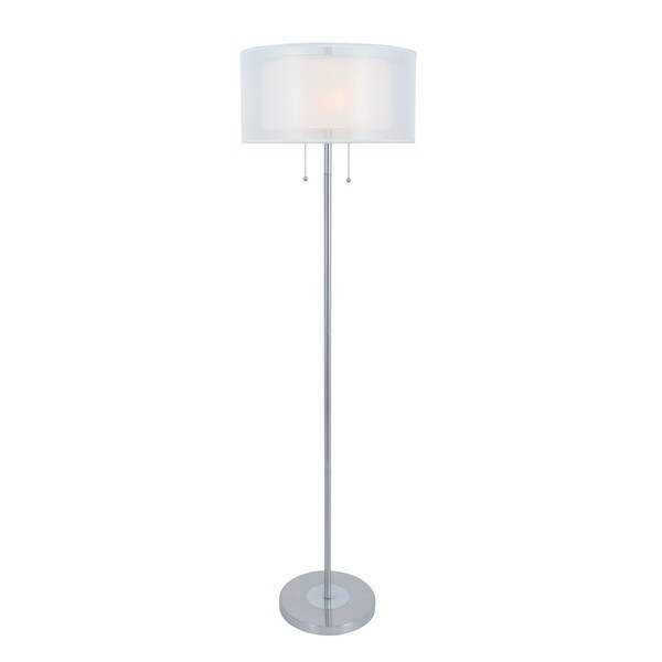 Lite Source Nodin Silvertone Floor Lamp