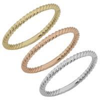 Fremada 14k Gold High Polish RIbbed Design Ring (Yellow, White or Rose Gold)
