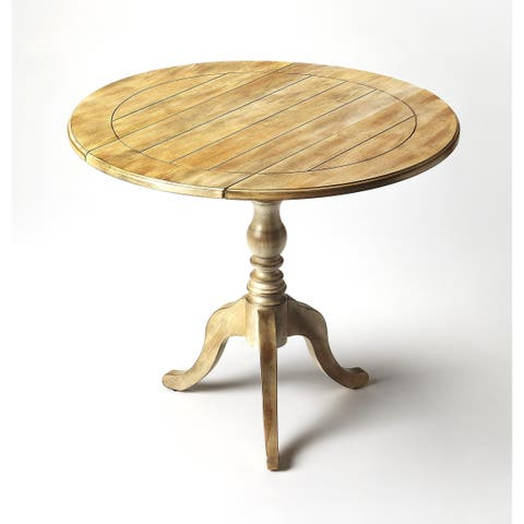 Handmade Butler Dunlay Driftwood Drop-leaf End Table (China)