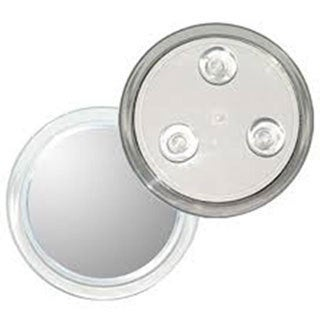 5x Magnification Anti-fog Suction Mirror with Unbreakable Lens Plus Free 3-in-1 Compact Mirror