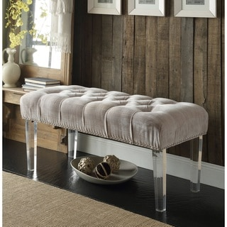 Chic Home Odette Button-tufted Nailhead Ottoman/ Bench