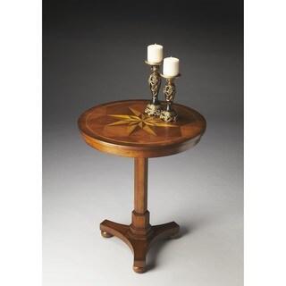Butler Seymour Brown Varnished Wood Veneer Accent Table