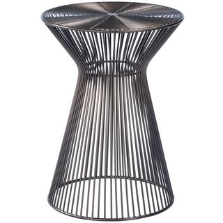 Butler Greeley Black and Green Metal Finish Iron Accent Table