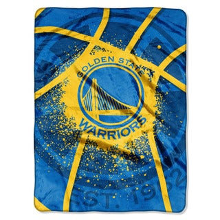 NBA 803 Warriors Shadow Play Raschel Throw