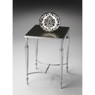 Butler Grey and Silver Nickel-finished Aluminum and Iron Side Table