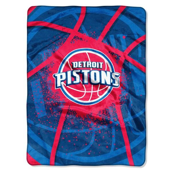 NBA 803 Pistons Shadow Play Raschel Throw