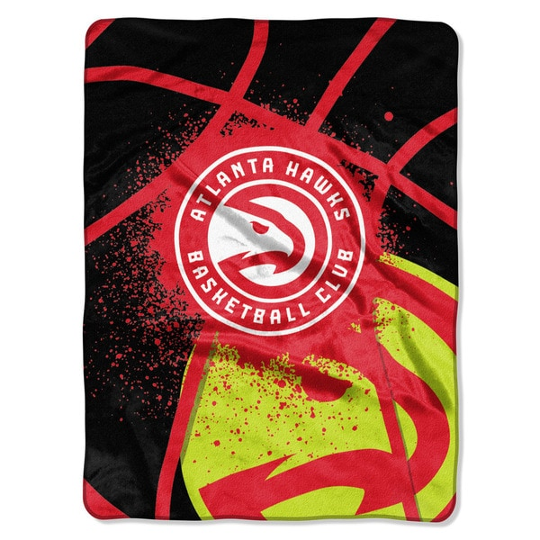 NBA 803 Hawks Shadow Play Raschel Throw