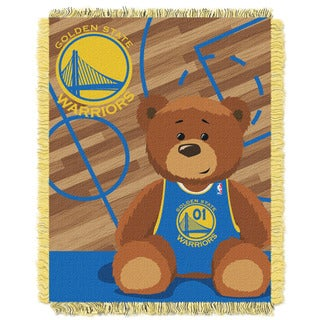 NBA 04401 Warriors Half Court Baby Blanket