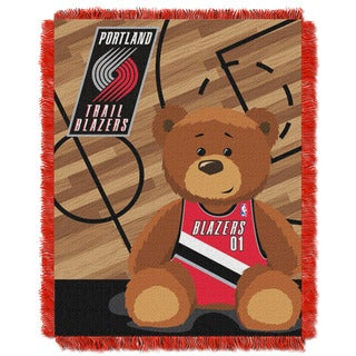 NBA 04401 Trailblazers Half Court Baby Throw