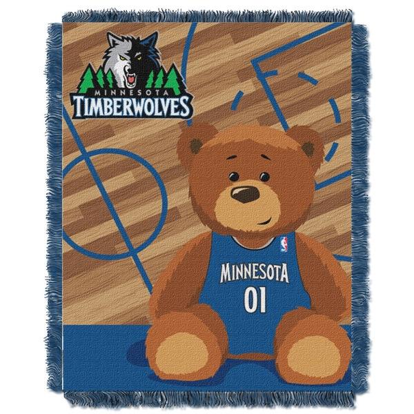 NBA 04401 Timberwolves Half Court Baby Blanket