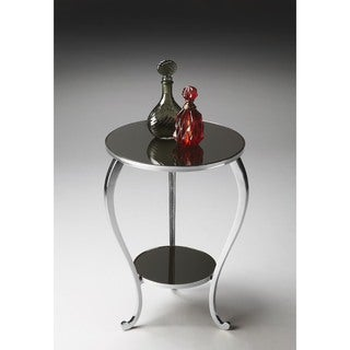 Butler Silver Nickel Aluminum/Glass Accent Table