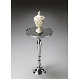 Handmade Butler Silver Nickel Pedestal Table (India)