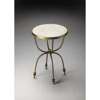 Handmade Butler Iron/Marble End Table (India)