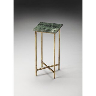 Butler Versilia Green Marble Square Scatter Table - MultiColor