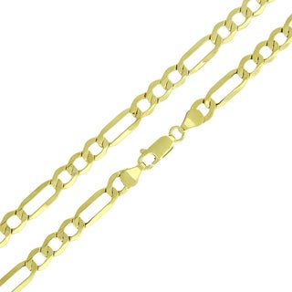 10k Gold 5.5mm Hollow Figaro Link Chain