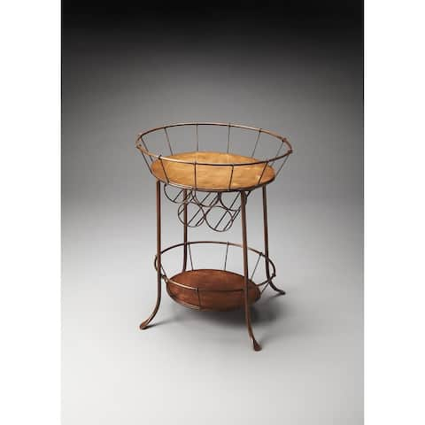 Handmade Iron Wine Storage Table (India)