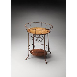 Butler Iron Wine Storage Table