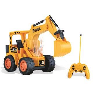 Engineer Super Power Yellow Plastic Remote Control Excavator|https://ak1.ostkcdn.com/images/products/12070325/P18938090.jpg?_ostk_perf_=percv&impolicy=medium