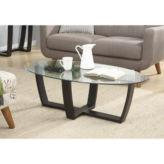 Convenience Concepts Newport Glass-top Coffee Table