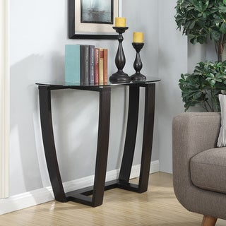 Convenience Concepts Newport Glass Top Console Table
