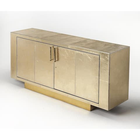 Butler Francois Gold Leather Buffet
