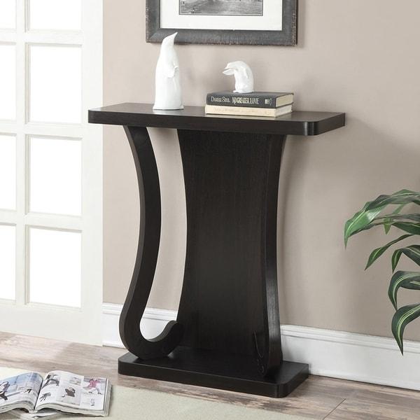 Copper Grove Monbretia Espresso Wood Console Table