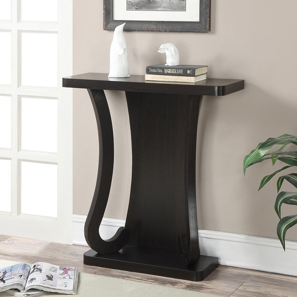 Porch & Den Bywater Franklin Espresso Wood Console Table