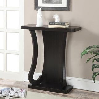 Porch & Den Bywater Franklin Espresso Wood Console Table - Thumbnail 0