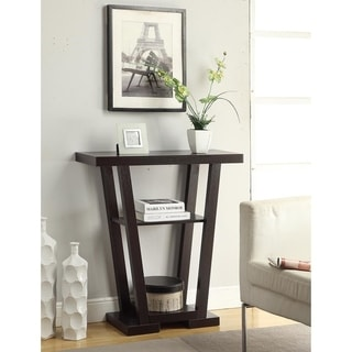Convenience Concepts Newport V Wood Console Table