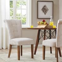 "Madison Park Weldon Cream Dining Chair (Set of 2) - 21""w x 27.5""d x 38.5""h (2)"